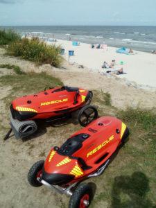 seabob rescue on the beach