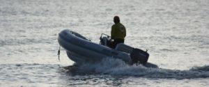 Len on boat